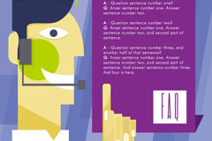Link toCreative card questions and answers background vector