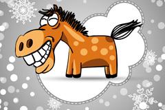 Link toCreative cartoon horse design vector