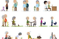 Link toCreative cartoon old man design vector