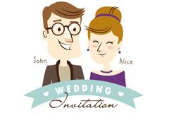 Link toCreative cartoon wedding invitation card vector