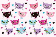 Creative cat background vector