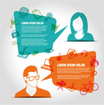 Link toCreative characters dialog box vector