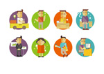 Link toCreative characters icon vector