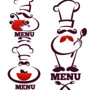 Link toCreative chef menu logos vector set 04