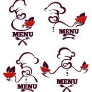 Link toCreative chef menu logos vector set 05