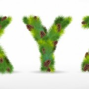 Link toCreative christmas tree alphabet and number vector set 13