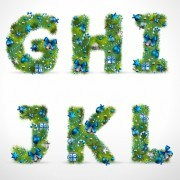 Link toCreative christmas tree alphabet and number vector set 28