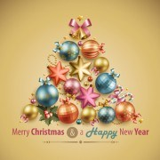 Link toCreative christmas tree baubles vector