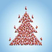 Link toCreative christmas tree xmas background vector 04