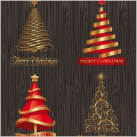 Link toCreative christmas trees vector