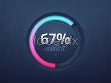Link toCreative circle circular progress bar psd design