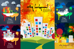 Link toCreative cities background vector