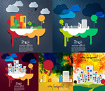 Link toCreative cities backgrounds vector