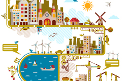 Link toCreative cities: vector illustration