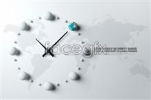 Link toCreative clock psd business poster