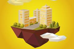 Link toCreative cloud building design vector