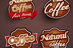 Link toCreative coffee label design vector