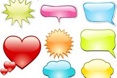 Link toCreative color dialog box design vector