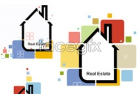 Link toCreative color house background vector