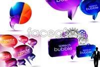 Creative colours dialogue box vector