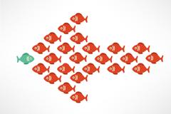 Link toCreative combinations of cartoon fish arrow vector