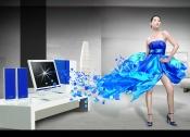 Link toCreative computer poster design source files