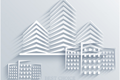 Creative construction paper-cut vector