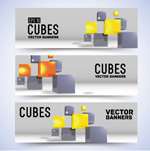 Link toCreative cube banne vector