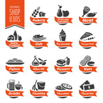 Link toCreative culinary icons vector