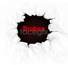 Link toCreative design psd broken paper