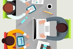 Creative desk top vector