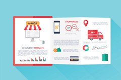 Creative e-commerce fold vector