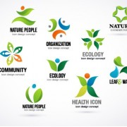 Link toCreative ecology logos design vector set 01 free