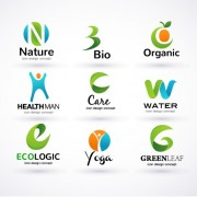 Link toCreative ecology logos design vector set 02 free
