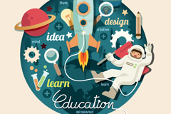 Link toCreative education element vector