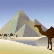 Link toCreative egypt pyramids background vector graphics 03 free
