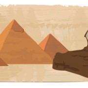 Link toCreative egypt pyramids background vector graphics 04 free