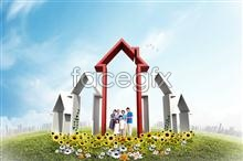 Link toCreative family housing psd