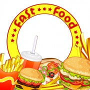 Link toCreative fast food products background vector 02 free