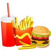 Link toCreative fast food products background vector 05 free