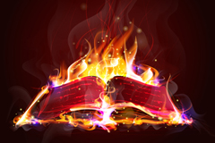Creative flame book vector