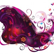 Link toCreative floral hair with woman vector 03 free