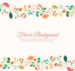 Link toCreative flower border background vector