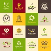 Link toCreative food elements logos vector 01