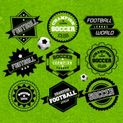 Link toCreative football labels design vector graphics 01 free