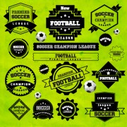 Link toCreative football labels design vector graphics 02 free