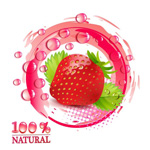 Creative fresh fruit vector