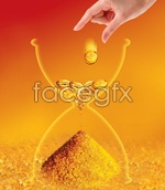 Link toCreative gold hourglass psd
