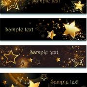 Link toCreative golden stars vector banner free