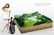Link toCreative golf course poster psd source file